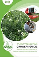 VINING PEA GUIDE 2014