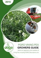 VINING PEA GUIDE 2015