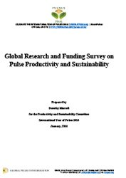 Global Research and Funding Survey on Pulse Productivity and Sustainability